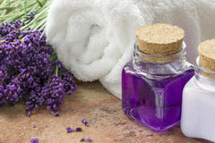 Lavender spa wellness products Stock Images