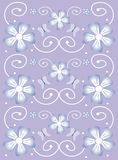 Lavender Spring Floral Design. Artistic illustration of spring flowers Vector Illustration