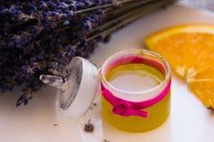Lavender Stress Balm set Stock Photo