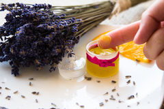 Lavender Stress Balm set Stock Image