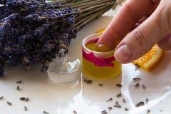 Lavender Stress Balm set Stock Photography