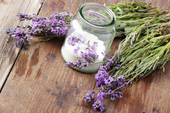 Lavender sugar Stock Photos