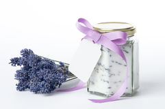 Lavender Sugar Stock Photo