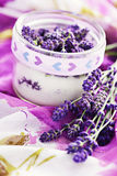 Lavender sugar Royalty Free Stock Photography