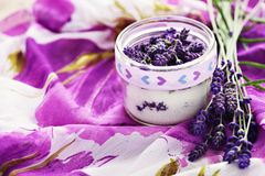 Lavender sugar Royalty Free Stock Photos