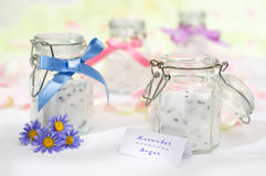 Lavender Sugar Jars Royalty Free Stock Photography