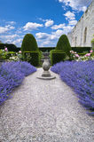 Lavender sundial vertical Royalty Free Stock Photography