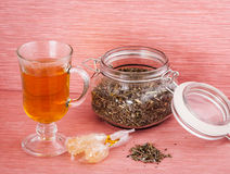 Lavender tea. With the sweets Stock Photo