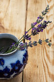 Lavender with vase Stock Images