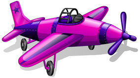 A lavender vintage plane. Illustration of a lavender vintage plane on a white background Royalty Free Stock Image