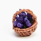 Lavender in a wicker basket. Stock Image