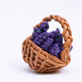 Lavender in a wicker basket. Royalty Free Stock Photo