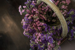 Lavender in a wicker basket. Lavender in a wicker basket for decorate Stock Images
