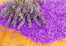 Free Lavender With Bath Salt Stock Images - 22291524
