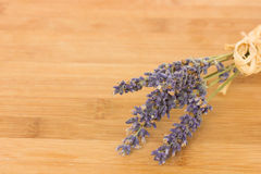 Lavender on wooden background Stock Photography