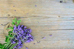 Lavender on wooden board Stock Photo