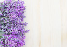 Lavender on a wooden desk. Royalty Free Stock Image