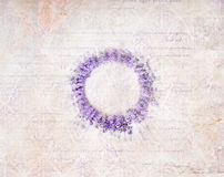 Lavender wreath. Royalty Free Stock Image