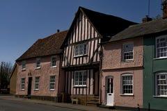 Lavenham老桃红色房子 库存照片