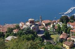 Laveno Chiesa di Sant Ambrogio on lake Lago Maggiore Royalty Free Stock Photo