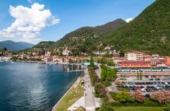 Laveno, Italien Panoramische Ansicht Lizenzfreie Stockfotografie