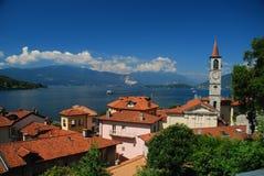 Laveno, lago Maggiore, Italia Foto de archivo libre de regalías
