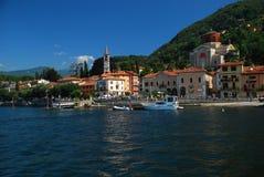 Laveno, meer Maggiore, Italië Stock Foto's