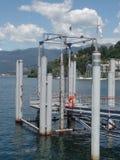 Laveno molo na Jeziornym Maggiore, Północny Włochy obrazy royalty free