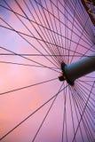 Laventer天空和轮子 免版税图库摄影