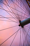 Lavender Sky and Wheel Royalty Free Stock Photography