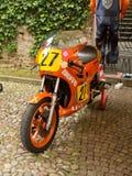 Laverda race bike at Bergamo Historic Grand Prix 2014 Royalty Free Stock Photography