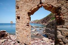 Laveria di Nebida, Iglesias (Sardegna - Italia) fotografia stock libera da diritti