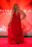 Laverne Cox walks the runway at the Go Red For Women Red Dress Collection 2015 Stock Image