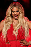 Laverne Cox walks the runway at the Go Red For Women Red Dress Collection 2015 Stock Images