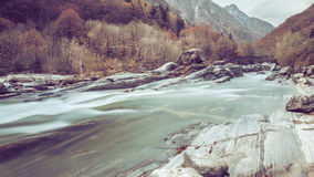 Lavertezzo瓦尔Verzasca -瑞士 库存图片