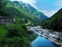 Lavertezzo,瑞士 免版税库存照片