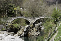 Lavertezzo Bridge Stock Photos