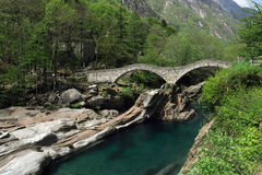 Lavertezzo bridge Stock Image