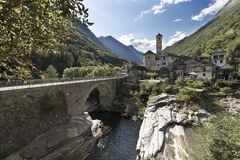 Lavertezzo is a Swiss commune in the canton of Ticino. Located in the district of Locarno, district of Verzasca. Switzerland stock photography