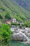 Lavertezzo, vale de Verzasca, Ticino Fotografia de Stock