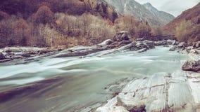 Lavertezzo Valle Verzasca - die Schweiz Stockbilder