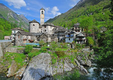 Lavertezzo, Verzasca Tal, Ticino Lizenzfreies Stockbild