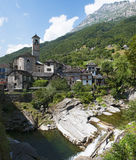 Lavertezzo, Verzasca Valley, Canton Of Ticino, Switzerland, Europe Royalty Free Stock Photography