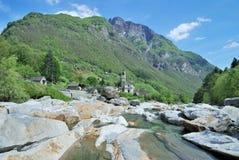 Lavertezzo,Verzasca Valley,Switzerland Royalty Free Stock Photos