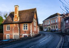 Laverton Hall and Oddfellows Hall in Bratton Road, Westbury, Wiltshire, UK. On 17 January 2019 stock photography