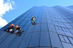 Laveurs de vitres Photo libre de droits