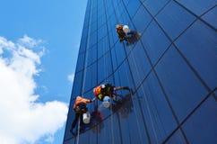 Laveurs de vitres Images libres de droits