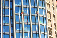 Laveurs de vitres Photographie stock libre de droits