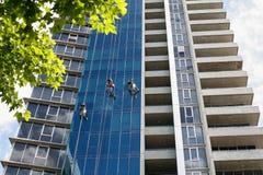 Laveurs de vitres industriels Image libre de droits