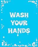 Lavez-vous les mains Image stock